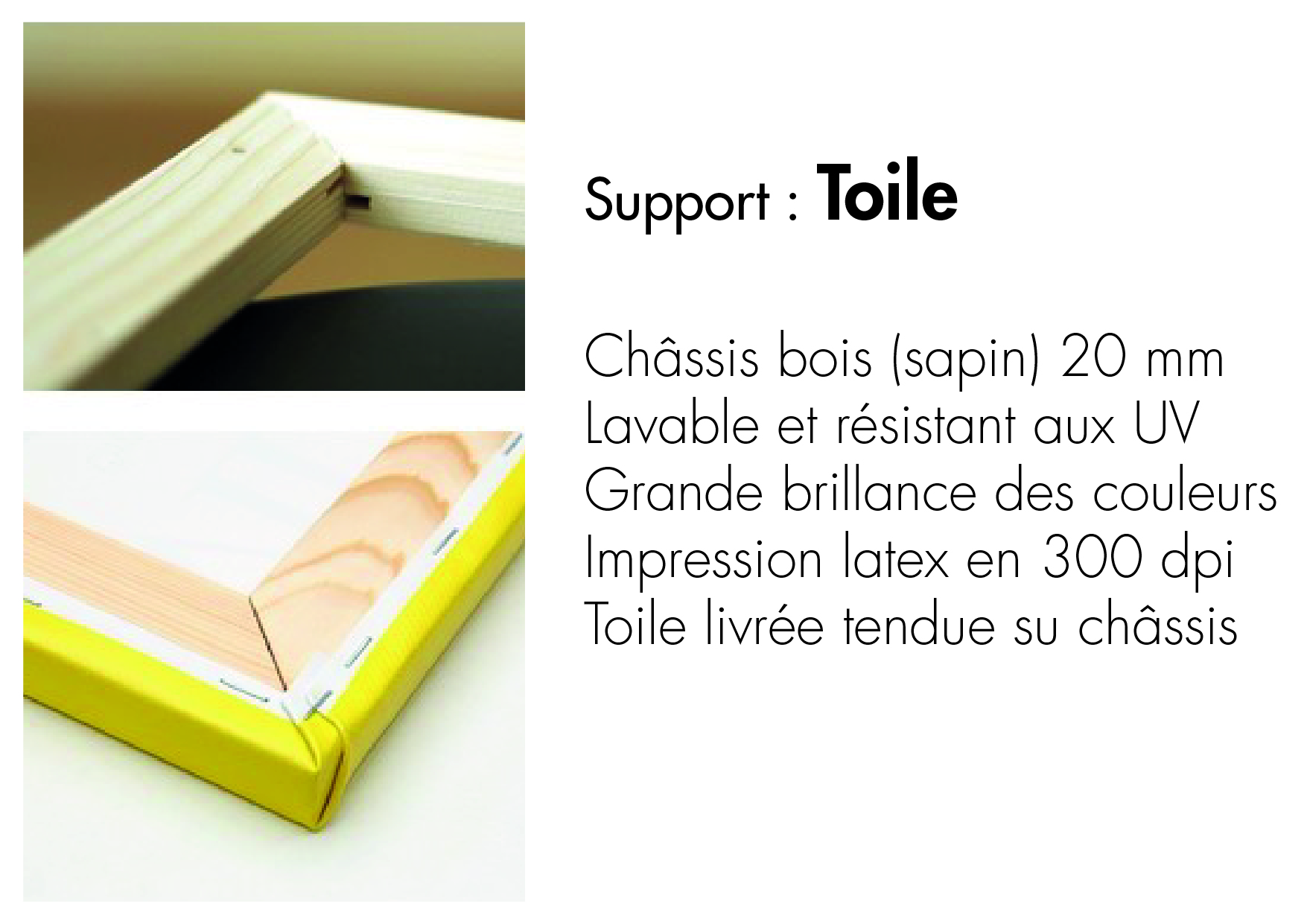 support toile