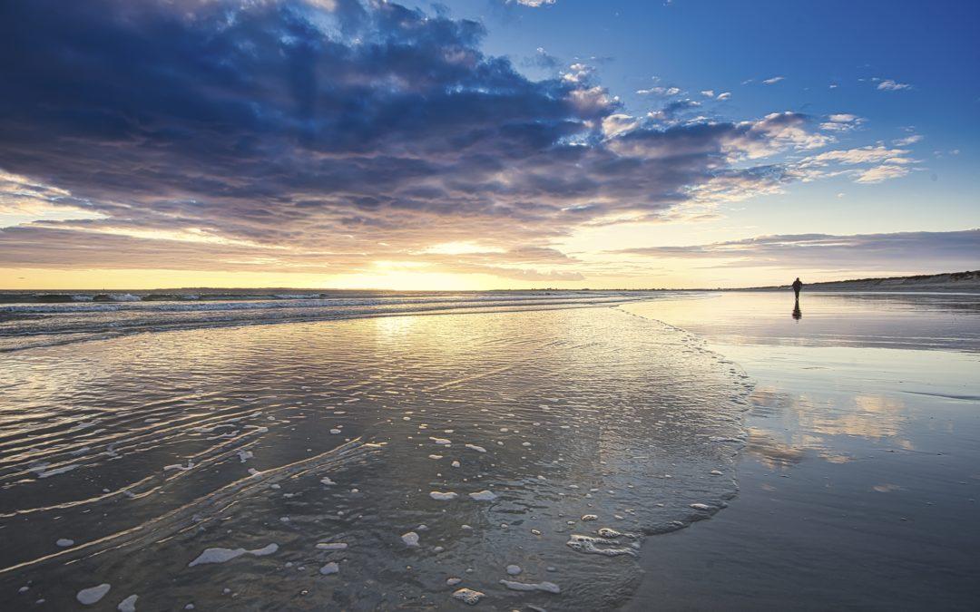 Coucher de soleil sur l'île de Groix